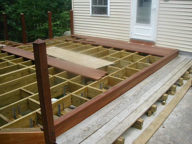 Here The Outer Rim Board Is Installed Which Will Give Deck A Very Finished Look